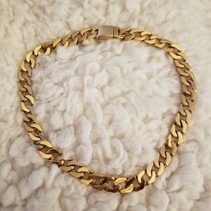 Hollywood Jewelry Cuban Link Necklace 24k pltd